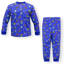 """44-1581567 """"Вояж"""" пижама для мальчиков 1-5 лет, двухнитка, синий"""