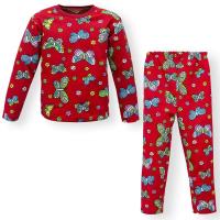 """44-6982574 """"Бабочки"""" пижама для девочек 6-10 лет, двухнитка"""