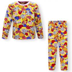 """44-6982575 """"Весёлый Цирк"""" пижама для девочек 6-9 лет, двухнитка"""
