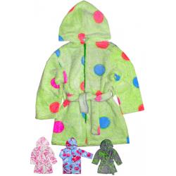 44-25208 халат на молнии для девочек 2-5 лет, велсофт