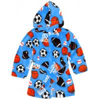 44-2547 халат на молнии для мальчиков 2-5 лет, велсофт