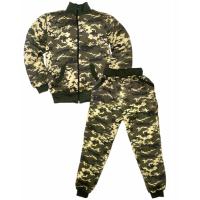 """44-1015100 """"Камуфляж-ЦН"""" костюм на молнии, 10-15 лет, двухнитка с начёсом"""