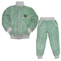 """44-25812 """"Комфорт"""" костюм с курткой на молнии 2-5 лет, пике, зеленая искра"""