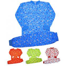 44-15569 Пижама (на кокетке) для мальчиков 1-5 лет, двухнитка с начесом