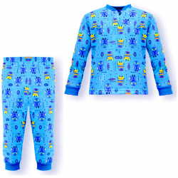 """44-1581570 """"Сказочка"""" пижама для мальчиков 1-5 лет, двухнитка, св.бирюза"""