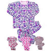 44-6944 Пижама для девочки, двухнитка с начёсом, 6-9 лет