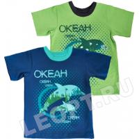 """ЛЕО. """"Океан-дельфин"""" футболка для мальчика"""