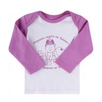 РАСПРОДАЖА ЛЕО. «Детские мысли» футболка (длинный рукав)