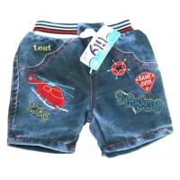 """V 223-13 """"Вертолет"""" шорты  джинсовые для мальчика 1-4 года"""