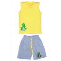 "11-142103 ""Crocodile"" комплект летний для мальчика, 1-4 года, желтый"
