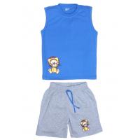 """11-142105 """"LEON"""" комплект летний для мальчика, 1-3 года, голубой"""