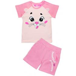 """11-253206 """"Beatuful Princess"""" комплект с шортами, 2-5 лет, розовый"""