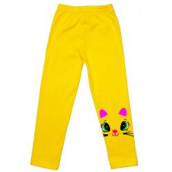 """5860-73 """"Мордашки"""" Лосины детские, 5-8 лет, желтый"""