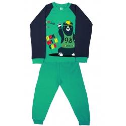 """5881-05 """"Young Wild"""" Комплект домашний для мальчиков, 5-8 лет, зеленый\серый"""