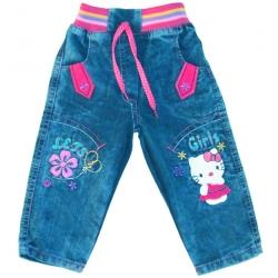 "TY1704 ""KITTY"" джинсовые брючки для девочек"