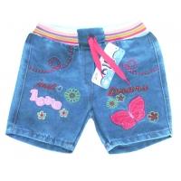 "V 223-4 ""LOVE шорты  джинсовые для девочки 1-4 года"