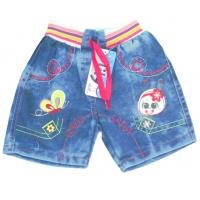 """V 223-5 """"Бабочка"""" шорты  джинсовые для девочки 1-4 года"""