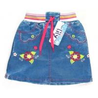 """""""Цветы"""" юбка джинсовая 1-4 года"""