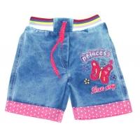 "V 225-2 ""Принцесса"" шорты  джинсовые для девочки 0,5-4 года"