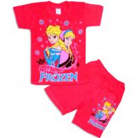 10-582102 Комплект футболка-шорты, 5-8 лет, красный