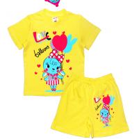 """1422-64 """"Balloons"""" Комплект летний, 1-4 года, желтый"""