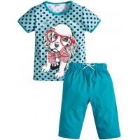 """3722-102 """"Милашка"""" комплект с бриджами для девочек, 3-7 лет"""