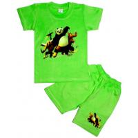 10-582101 Комплект футболка-шорты, 5-8 лет, салатовый
