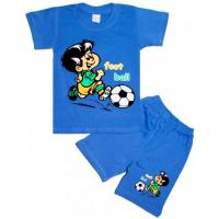 10-582104 Комплект футболка-шорты, 5-8 лет, синий