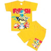 110-582115 Комплект футболка-шорты, 5-8 лет, светло-горчичный