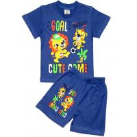 """1421-71 """"GOAL!"""" комплект для мальчика, 1-4 года, синий"""