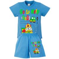 """1421-72 """"Go to Help"""" комплект для мальчика, 1-4 года, голубой"""