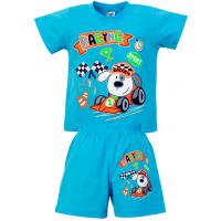 """1421-75 """"RACING"""" комплект для мальчика, 1-4 года, голубой"""