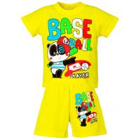 """1421-80 """"Base Ball"""" комплект для мальчика, 1-4 года, желтый"""