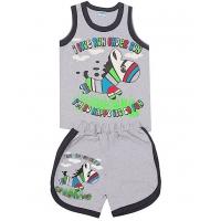"""1431-24 """"I love run"""" комплект майка+шорты, 1-4 года"""