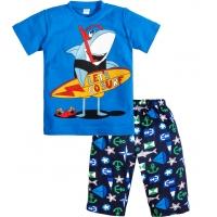 """3721-41 """"Let's Go Surf"""" комплект с бриджами для мальчиков 3-7 лет"""