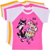"""""""Pussy Cat"""" футболка для девочек, кулир 110-128"""