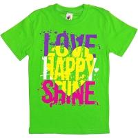 """81202-18 """"Love Happy"""" Футболка для девочек, 8-12 лет"""