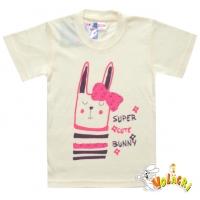 """1402-71 """"Cut Bunny"""" Футболка для девочек, 1-4 года"""