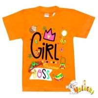 "1402-73 ""Girl Princess"" Футболка для девочек, 1-4 года"