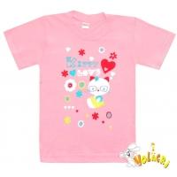 "1402-78 ""Kitty Love"" Футболка для девочек, 1-4 года"