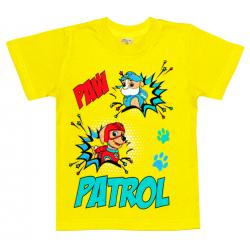 """1401-12 """"PATROL"""" Футболка для мальчиков, 1-4 года, желтый"""