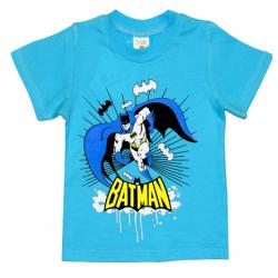 """1401-17 """"BATMAN"""" Футболка для мальчиков, 1-4 года, голубой"""