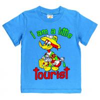 "1401-23 ""Little Tourist"" Футболка для мальчиков, 1-4 года, голубой"