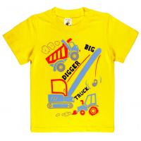 "1401-27 ""TRUCK"" Футболка для мальчиков, 1-4 года, желтый"