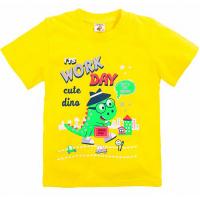 "15-140102 ""WORK DAY"" Футболка для мальчиков, 1-4 года, желтый"