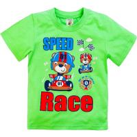 """15-140105 """"SPEED RACE"""" Футболка для мальчиков, 1-4 года, салатовый"""