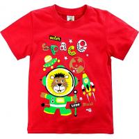 """15-140106 """"SPACE"""" Футболка для мальчиков, 1-4 года, красный"""