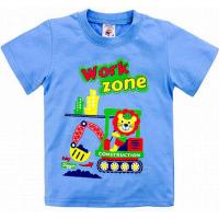 "15-140107 ""WORK ZONE"" Футболка для мальчиков, 1-4 года, голубой"