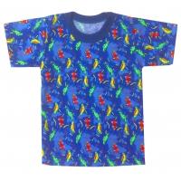 """1501-73 """"Путешествие"""" футболка для мальчиков 1-5 лет"""