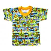 """1501-75 """"Тропики"""" футболка для мальчиков 1-5 лет"""